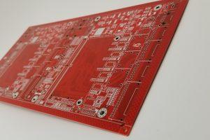 2up printed circuit board panel red soldermask